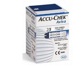 ACCU CHEK AVIVA MISURAZIONE DELLA GLICEMIA - 25 STRISCE