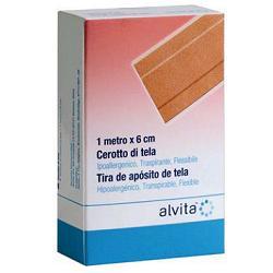 ALVITA CEROTTO TELA - 6 CM x 1 M
