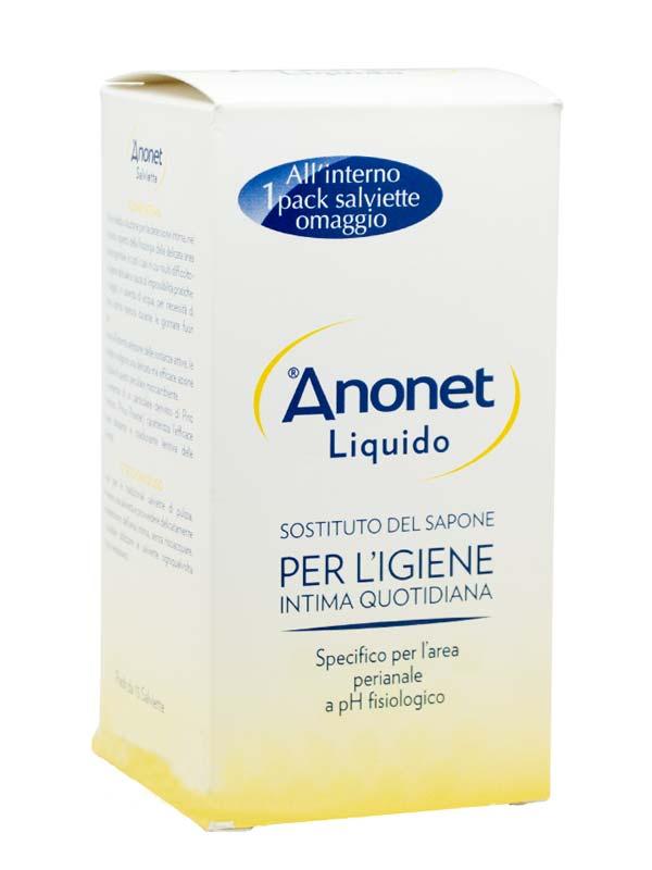 ANONET DETERGENTE LIQUIDO 150 ML + SALVIETTE INTIME 15 PEZZI