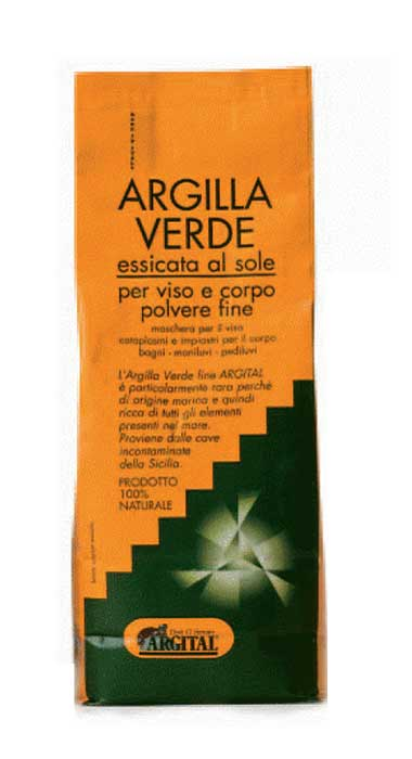 ARGITAL ARGILLA VERDE FINE ESSICCATA AL SOLE - 2500 G