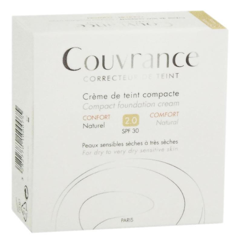 AVENE COUVRANCE CREMA COMPATTA COLORATA COMFORT 2.0 SPF30 02 NATURALE 9,5 G