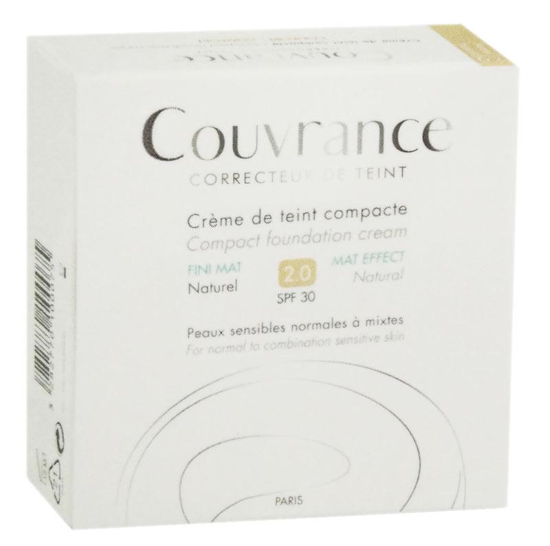 AVENE COUVRANCE CREMA COMPATTA COLORATA MAT EFFECT 2.0 SPF30 03 SABBIA 9,5 G