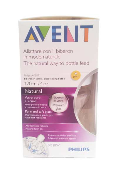 AVENT BIBERON NATURAL IN VETRO 0M+ - 120 ML