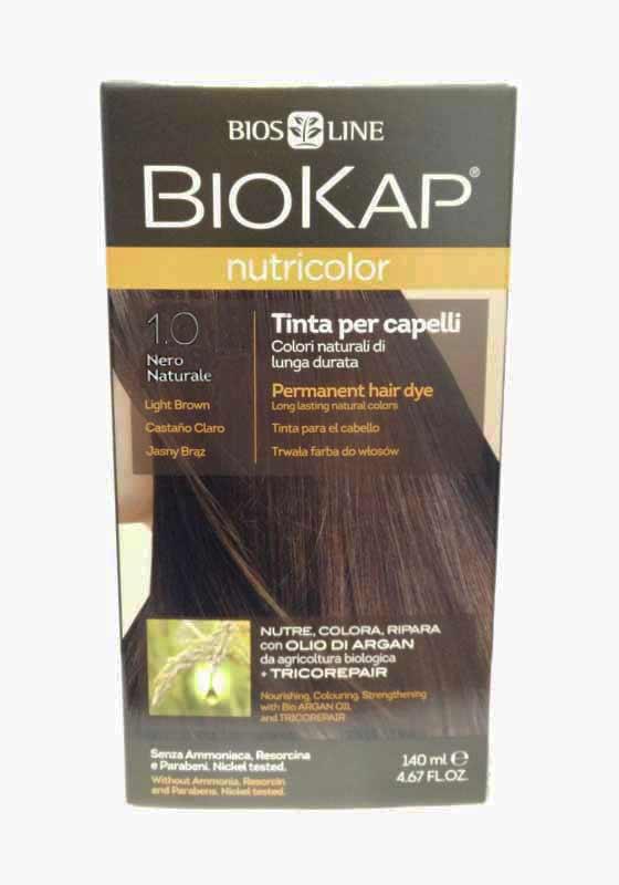 BIOKAP NUTRICOLOR TINTA 1.0 NERO 140 ML