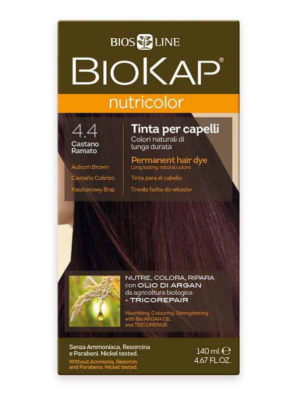 BIOKAP NUTRICOLOR TINTA 4.4 CASTANO RAMATO 140 ML