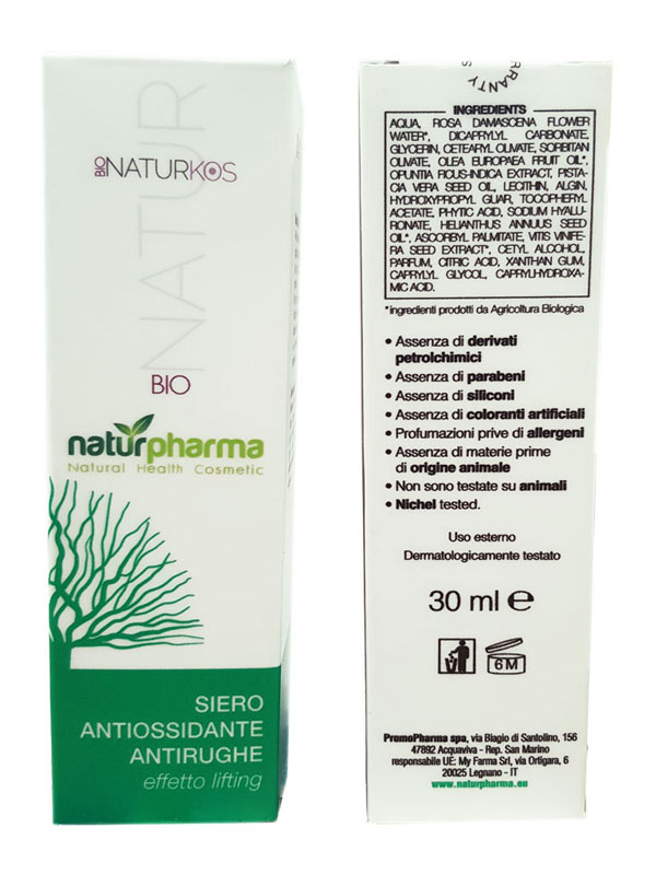 BIONATURKOS SIERO ANTIOSSIDANTE ANTIRUGHE 30 ML