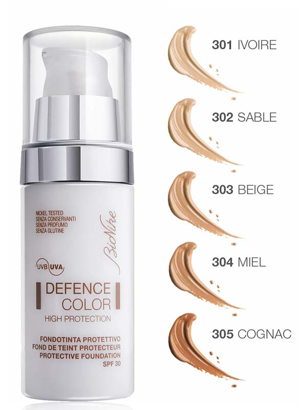 BIONIKE DEFENCE COLOR HIGH PROTECTION FONDOTINTA PROTETTIVO SPF 30 N 303 BEIGE 30 ML