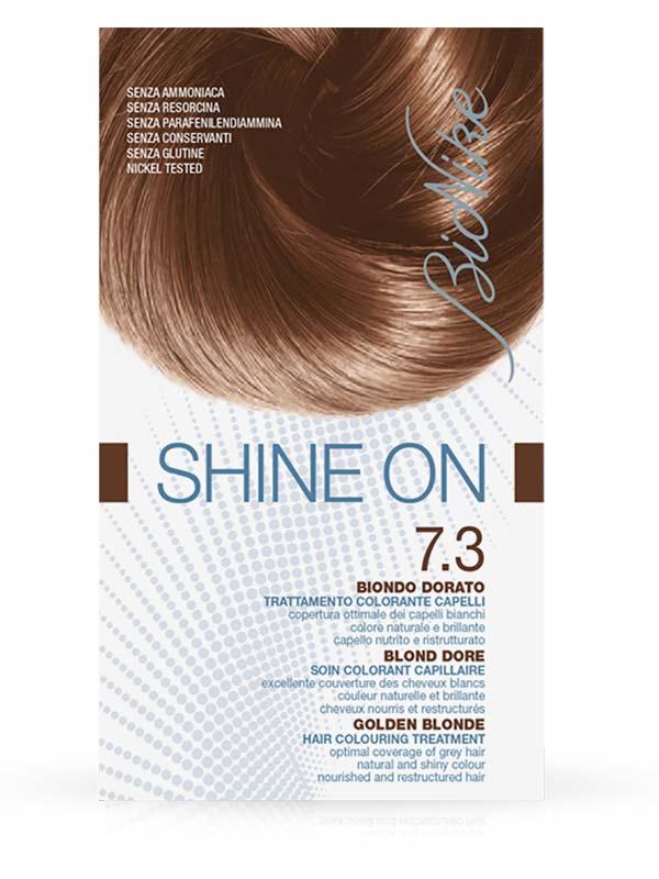 BIONIKE SHINE ON TRATTAMENTO COLORANTE PER CAPELLI 7.3 BIONDO DORATO