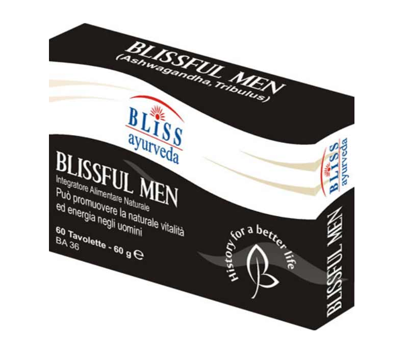 BLISSFUL MEN INTEGRATORE UTILE PER LA NATURALE VITALITA' SESSUALE DELL'UOMO - 60 COMPRESSE