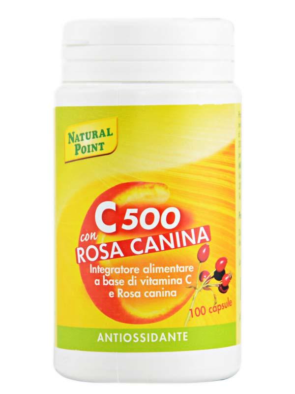 C 500 CON ROSA CANINA 100 CAPSULE