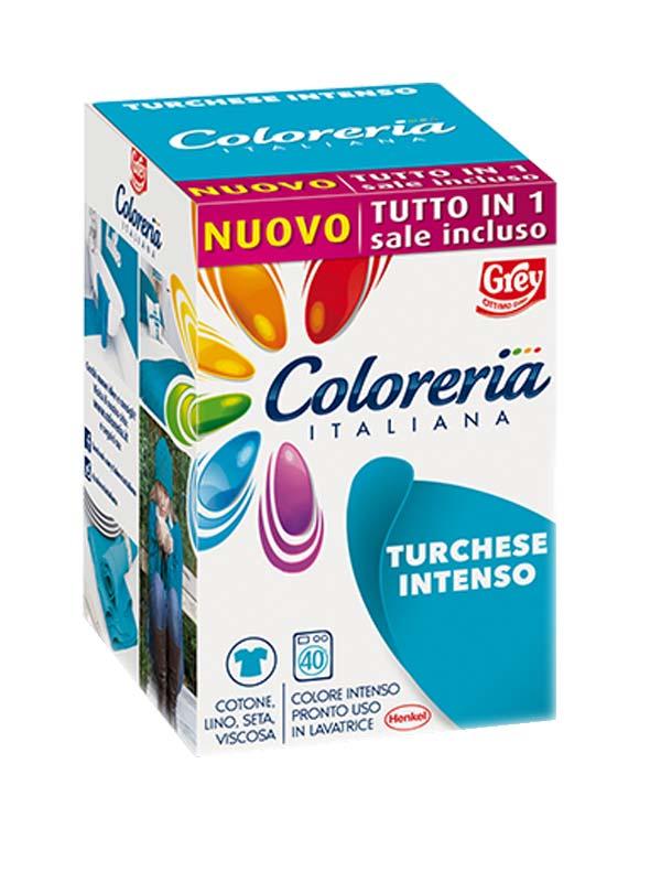 COLORERIA ITALIANA TURCHESE INTENSO 350 G