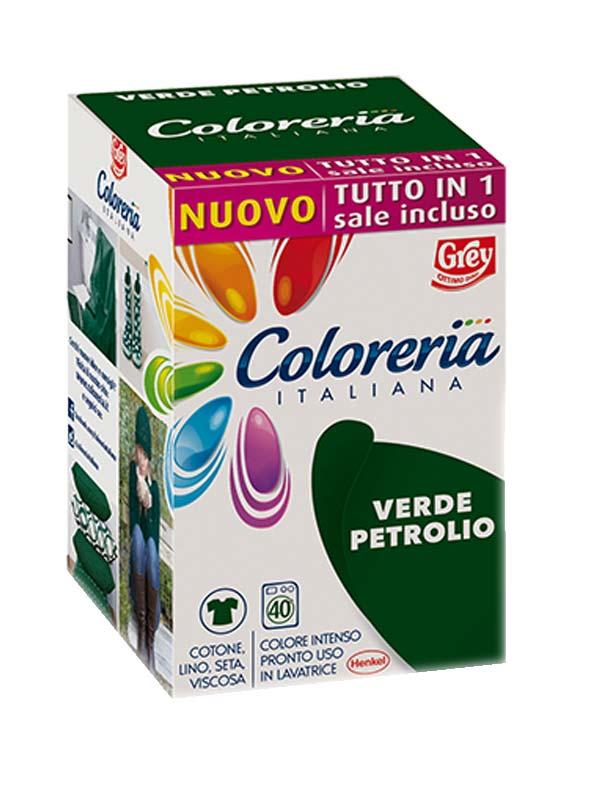 COLORERIA ITALIANA VERDE PETROLIO 350 G