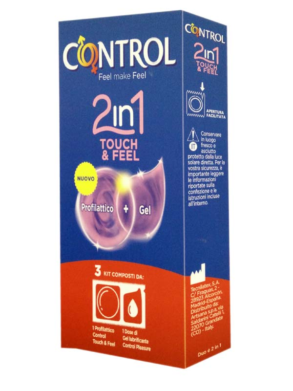 CONTROL 2 IN 1 TOUCH AND FEEL PROFILATTICO + GEL 3 KIT