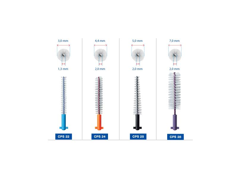 CURAPROX STRONG AND IMPLANT SCOVOLINI CPS 28 VIOLA - 5 SCOVOLINI