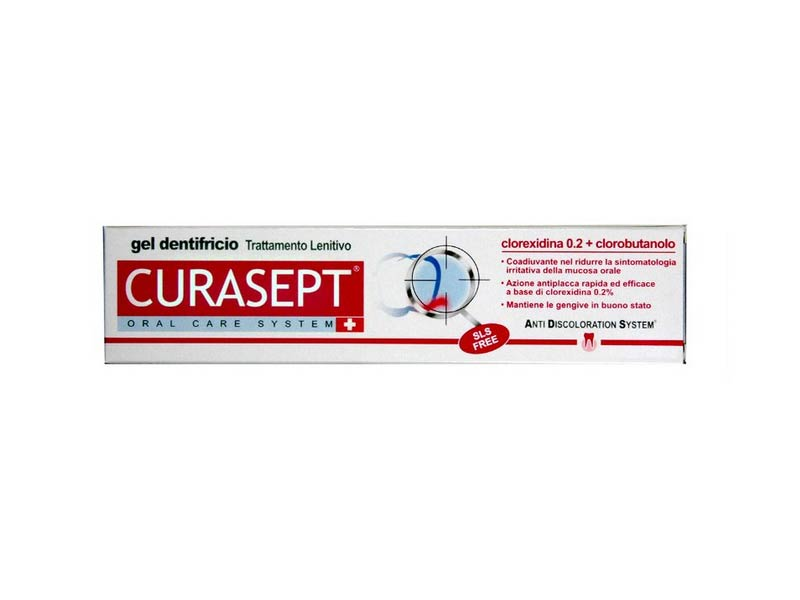 CURASEPT DENTIFRICIO ADS 0,20 CON CLOROBUTANOLO TRATTAMENTO LENITIVO - 75 ML