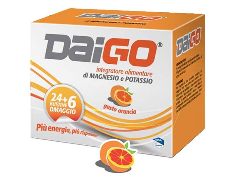 DAIGO MAGNESIO E POTASSIO GUSTO ARANCIA 30 BUSTINE