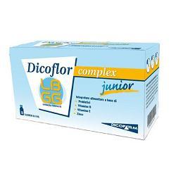 DICOFLOR COMPLEX JUNIOR INTEGRATORE ALIMENTARE DI PROBIOTICI E VITAMINE - 10 FLACONCINI