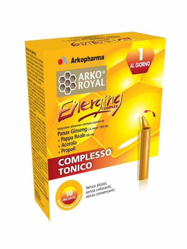 ENERGING COMPLEX ARKOROYAL 10 FLACONCINI DA 15 ML