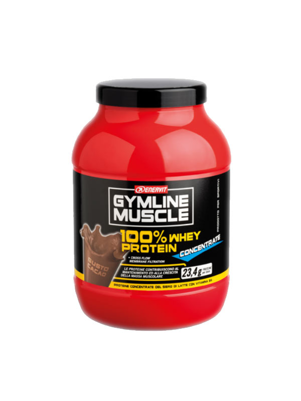 ENERVIT GYMLINE MUSCLE 100% WHEY PROTEIN  CONCENTRATE GUSTO CACAO 1 KG