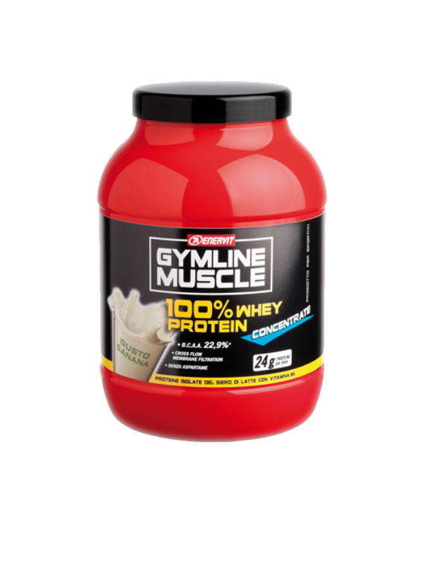 ENERVIT GYMLINE MUSCLE 100% WHEY PROTEIN CONCENTRATE GUSTO BANANA 700 G