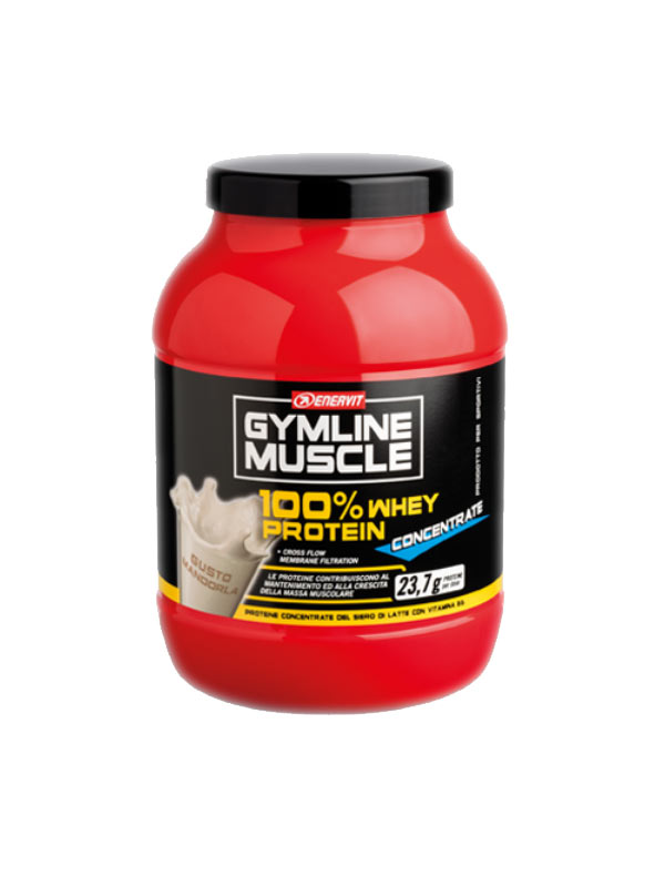 ENERVIT GYMLINE MUSCLE 100% WHEY PROTEIN CONCENTRATE GUSTO MANDORLA 700 G