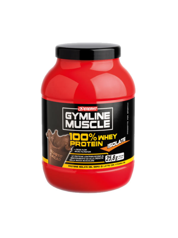 ENERVIT GYMLINE MUSCLE 100% WHEY PROTEIN ISOLATE GUSTO CACAO 700 G