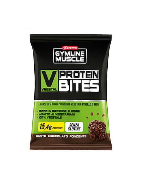 ENERVIT GYMLINE MUSCLE VEGETAL PROTEIN BITES CIOCCOLATO FONDENTE 54 G