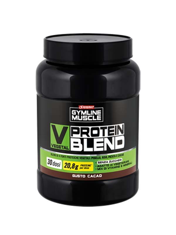 ENERVIT GYMLINE MUSCLE VEGETAL PROTEIN BLEND GUSTO CACAO 900 G