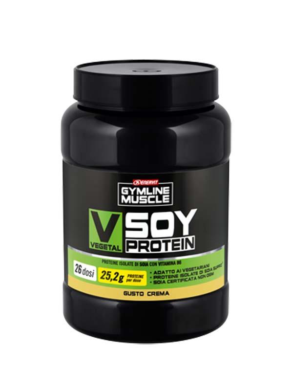 ENERVIT GYMLINE MUSCLE VEGETAL SOY PROTEIN CREMA 800 G