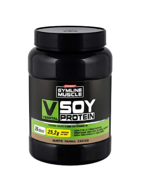ENERVIT GYMLINE MUSCLE VEGETAL SOY PROTEIN PANNA CACAO 800 G