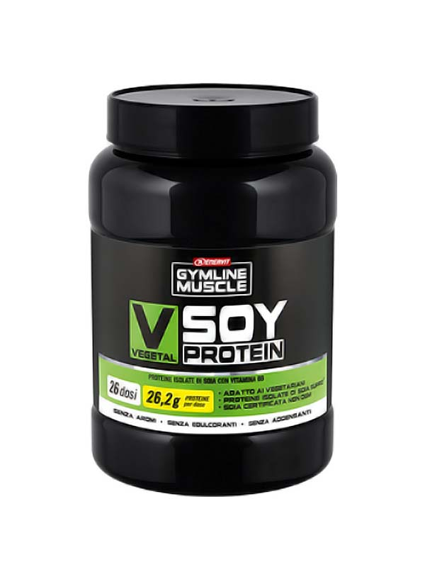 ENERVIT GYMLINE MUSCLE VEGETAL SOY PROTEIN SENZA AROMI 800 G
