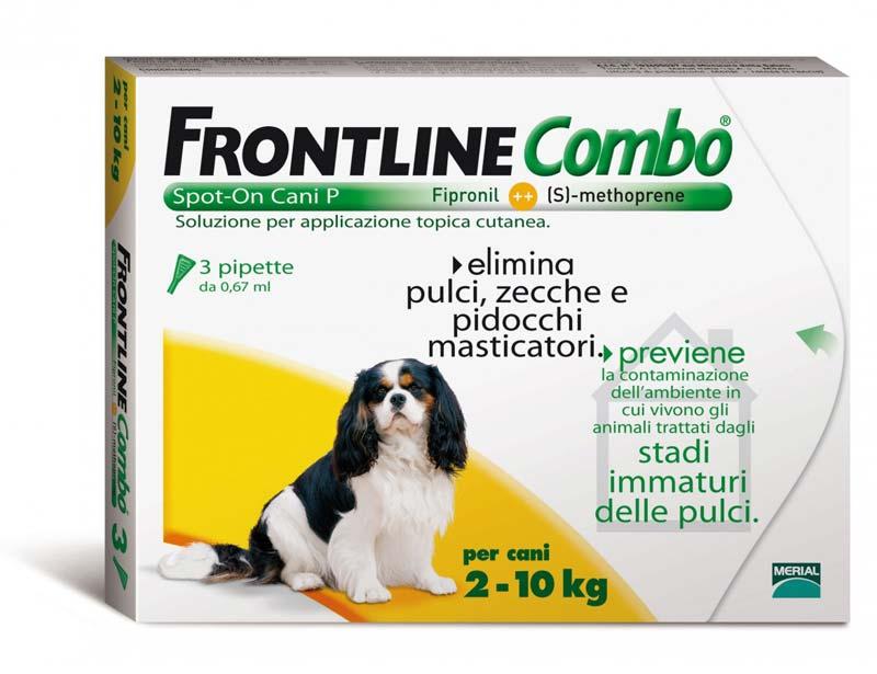 FRONTLINE COMBO SPOT ON CANI PICCOLI 2-10 KG 3 PIPETTE DA 0,67 ML
