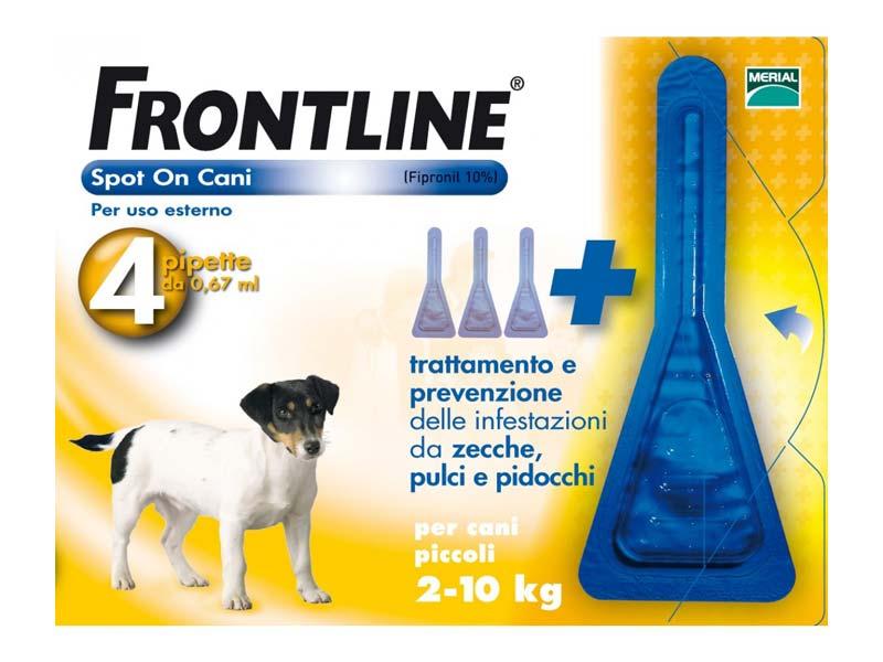 FRONTLINE SPOT ON CANI PICCOLI 2-10 KG 4 PIPETTE DA 0,67 ML