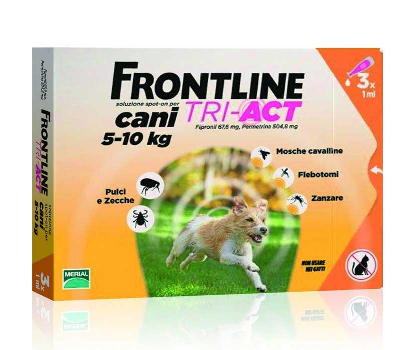 FRONTLINE TRI ACT SPOT ON CANI DA 5 A 10 KG 3 PIPETTE DA 1 ML