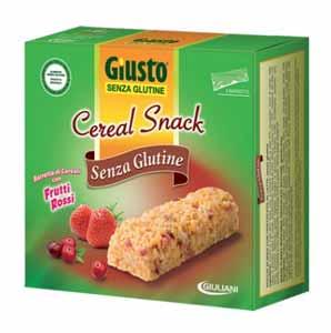 GIUSTO SENZA GLUTINE - CEREAL SNACK CON FRUTTI ROSSI - 150 G