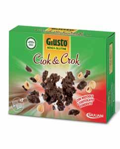 GIUSTO SENZA GLUTINE - CIOK AND CROCK SNACK DI CEREALI RICOPERTO CON CIOCCOLATO FONDENTE - 125 G