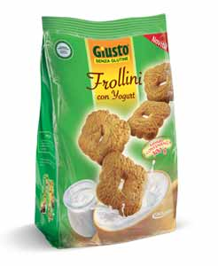 GIUSTO SENZA GLUTINE - FROLLINI CON YOGURT - 300 G