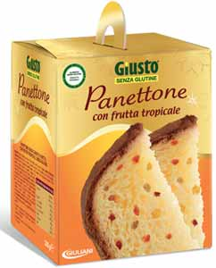 GIUSTO SENZA GLUTINE - PANETTONE CON FRUTTA TROPICALE - 300 G