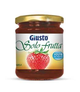 GIUSTO SENZA GLUTINE - SOLO FRUTTA FRAGOLA CONSERVE DI FRUTTA SENZA ZUCCHERI AGGIUNTI - 284 G