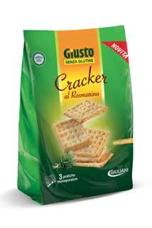 GIUSTO SENZA GLUTINE CRACKERS AL ROSMARNO 180 G