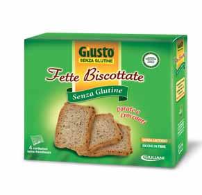 GIUSTO SENZA GLUTINE FETTE BISCOTTATE 250 G