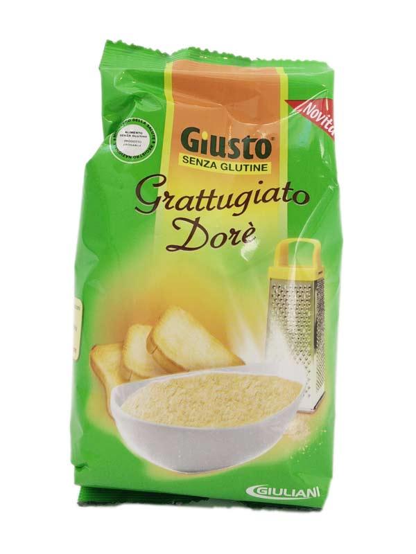 GIUSTO SENZA GLUTINE GRATTUGIATO DORE 200 G