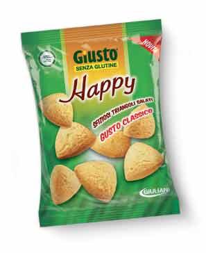 GIUSTO SENZA GLUTINE HAPPY TRIANGOLINI SALATI GUSTO CLASSICO 50 G