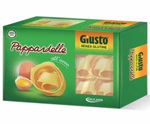 GIUSTO SENZA GLUTINE PASTA ALL'UOVO - PAPPARDELLE - 250 G