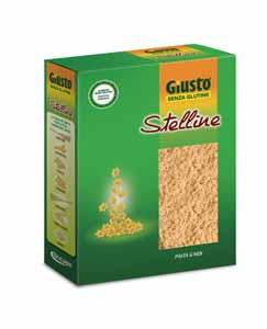 GIUSTO SENZA GLUTINE PASTA MAIS E RISO - STELLINE - 250 G
