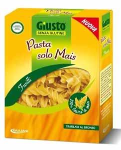 GIUSTO SENZA GLUTINE PASTA SOLO MAIS - FUSILLI - 500 G