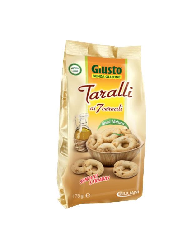 GIUSTO SENZA GLUTINE TARALLI AI 7 CEREALI 175 G