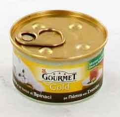 GOURMET GOLD MOUSSE PER GATTI GUSTO ANATRA E SPINACI GR.85 - 24 CONFEZIONI