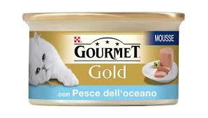 GOURMET GOLD MOUSSE PER GATTI GUSTO PESCE DELL OCEANO GR.85 - 24 CONFEZIONI