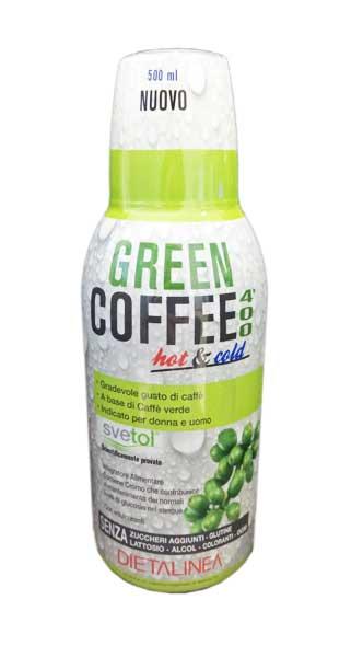 GREEN COFFEE 400 HOT AND COLD - INTEGRATORE ALIMENTARE UTILE IN CASO DI SOVRAPPESO - 500 ML